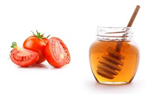 Dùng mật ong và cà chua trị nám